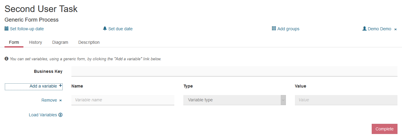 User Task Forms | docs camunda org
