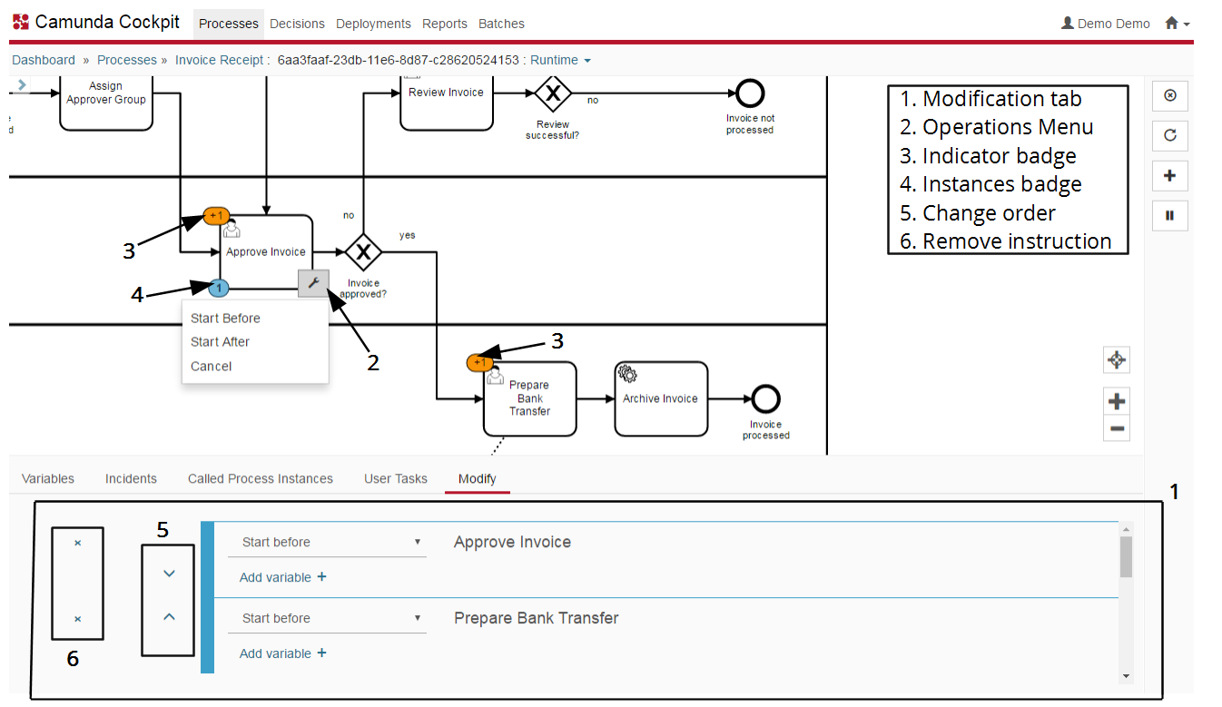 Process Instance Modification | docs camunda org